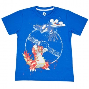Camiseta Pokémon Groudon Vs Kyogre Juvenil